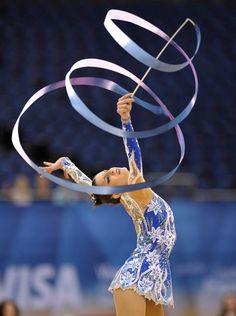 Beautiful ribbon routine.