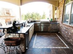 outdoor kitchen ideas for small spaces... Are they kidding me... this would be huge outdoor kitchen for average person