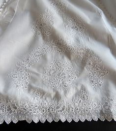 Ayrshire Handmade Antique Christening Gown Elegant with Exceptional from fvl on Ruby Lane