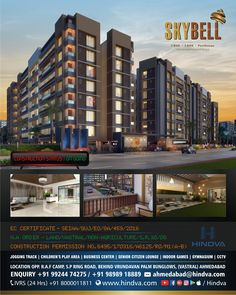 SkyBell • The New Age Lifestyle Apartments   Construction Status  On Going • 9 Impeccable Towers - 232 Apartment Homes - 10 Penthouse • Project in Vastral (Ahmedabad) by Hindva  #Hindva #SkyBell #TheNewAge #LifeStyle #Apartments #Vastral #Ahmedabad