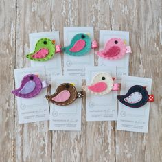 Felt Bird Hair Clip  You Pick 1 Clippie  by MasterpiecesOfFunArt, $3.50