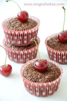 Zdravé kakaové muffinky s višňami | Angie