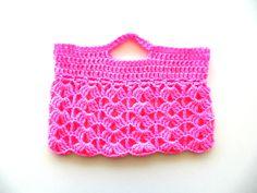 Crochet laptop sleeve in neon pink hot pink w vegan yarn & charity tree donation. Womens fashion laptop bag laptop case MacBook. $17.00, via Etsy.
