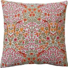 William Morris Cushion Cover BLACKTHORN MINOR in PINK vintage fabric SANDERSON