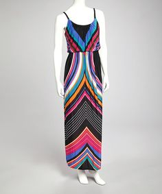 Take a look at this Black Stripe Maxi Dress by Bailey Blue on #zulily today!