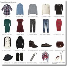 What to Pack for Glasgow/Edinburgh in Autumn