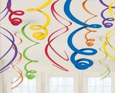 "Rainbow Swirl Decorations | 12pc, 22"""""