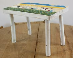 Kids Furniture - Kids Chairs - Wooden Small Bench - Wood Small Stool - Step…