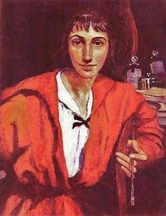 1884 Zinaida Yevgenyevna Serebriakova (Russian artist, 1884-1967) Self Portrait 1921