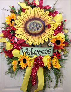 Spring / Summer Mesh Wreath by WilliamsFloral on Etsy, $130.00