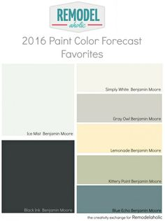 Trends in Paint Colors for 2016.