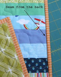 A clear How-To for machine stitching that last step in your binding instead of stitching by hand