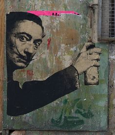 Salvador Dali paste up by pure evil on Flickr