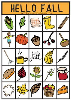 Fun Fall Scavenger Hunt and Matching Game [PDF Printable] – The Crazy Outdoor Mama Enjoy fall with your family with this fun all in one fall game for the kids - BINGO, scavenger hunt and matching game (with pretty fall pictures! Fall Party Games, Fall Games, Bingo Games For Kids, Games For Toddlers, Fall Crafts For Toddlers, Easy Fall Crafts, Autumn Activities For Kids, Fall Preschool, Free Activities