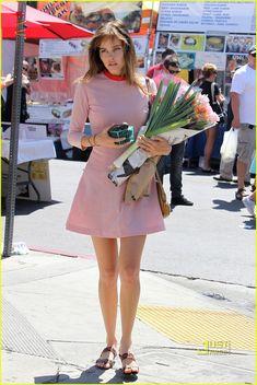 Isabel Lucas farmers market chic