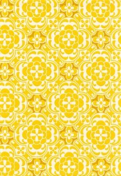 I adore this pattern. There's so much going on and it would be absolutely lovely on some cute midi skirts. Pretty Patterns, Color Patterns, Surface Pattern, Surface Design, Feng Shui, Photocollage, Yellow Pattern, Shades Of Yellow, Happy Colors