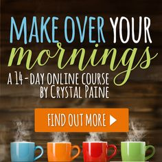 The Solution to Messy Mornings - Do you feel defeated, overwhelmed and chaotic mere minutes into your day? If so, this online course is for YOU! Click over to see how this course can help you maximize the first two hours of your day... everyday!!