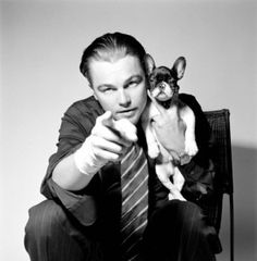 Leo with his French bulldog... OMG!