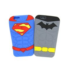 Fashion Cartoon Superman Batman Soft Rubber Back Covers for Apple IPhone 6 6s 5 5s SE Funny 3D Silicone Phone Case Shell Skin
