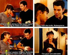 """""""You guys are adorable"""" - Jess, Cece and Schmidt Cece New Girl Memes, New Girl Funny, New Girl Quotes, Tv Quotes, Movie Quotes, Best Tv Shows, Favorite Tv Shows, Movies And Tv Shows, New Girl Tv Show"""