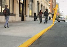 How simple & effective can advertising be! #GuerillaMarketing