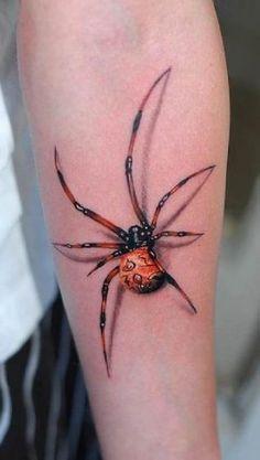 Red spider 3D   #Tattoo, #Tattooed, #Tattoos