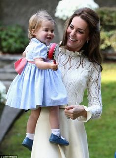 Princess Charlotte, who celebrates her second birthday next month, shares her name with a range of colourful - garish, even - children's merchandise in the Kensington Palace gift shop