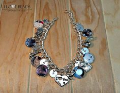 Wanna do something like this for all of the cats i have lost..... :(   .....b..... Cat charm bracelet-Cat photo charm bracelet-my by ILoveBeads247