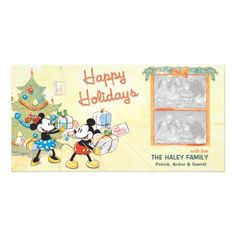 Classic Mickey & Minnie Holiday Photo Card