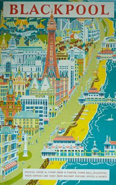Blackpool travel poster  1958