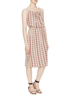 Woods Printed Jersey Tie Front Dress from Throw-on-and-Go Dresses on Gilt