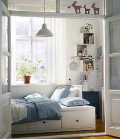 Chambre à coucher-  103 Grandes idées - deco-petit-chambre-a-coucher