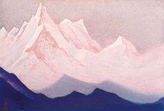 Картина Николая Константиновича Рериха.Белые горы 1944 год