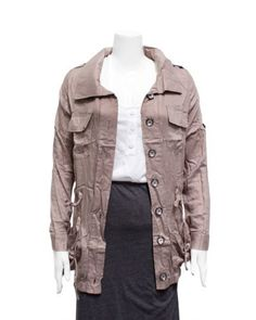 Ladies Beige Breezy Cargo Jacket FineBrandShop. $29.50