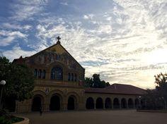 beautiful sunset in Stanford university