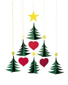 Flensted Giostrina 6 Alberi di Natale- si muove da sola! Decorazioni Natalizie