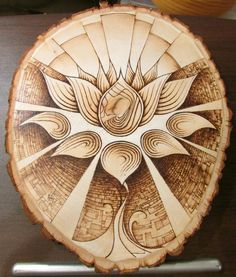 lotus_pyrography_woodburned_flower_art_by_thecitrusmaster-d8e9cui.jpg (1024×1203)