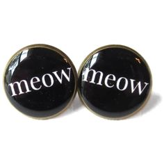 Crazy Cat Lady Meow Earrings - Funny Soft Grunge Pastel Goth Jewelry ($10) ❤ liked on Polyvore featuring jewelry, earrings, accessories, cat, piercings, goth jewelry, clear crystal jewelry, earring jewelry, clear crystal earrings and nickel free jewelry