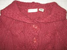 ANTHROPOLOGIE SLEEPING ON SNOW Cardigan Sweater Pink Chunky Knit Mohair Hooded S #Anthropologie #Cardigan