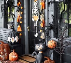Black Pumpkin with Boo Large Luminary | Pottery Barn Kids