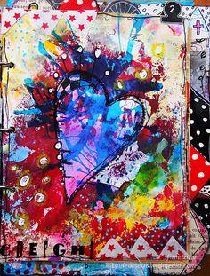 Advent-2.- xmas art journal