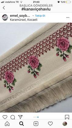 Cross Stitch Borders, Cross Stitch Flowers, Cross Stitching, Cross Stitch Patterns, Vintage Embroidery, Embroidery Stitches, Embroidery Designs, Rosa Shabby Chic, Fabric Markers