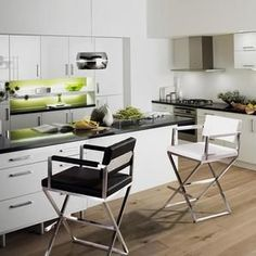 Tov Furniture Director Light Grey Steel Counter Stool