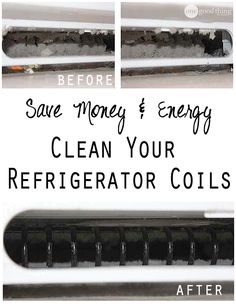 Have you looked under your refrigerator lately? Did you know you're supposed to vacuum the condenser coils twice a year? Neither did I! But I do now! See how easy it is to do and how much is can SAVE you on your energy bill!
