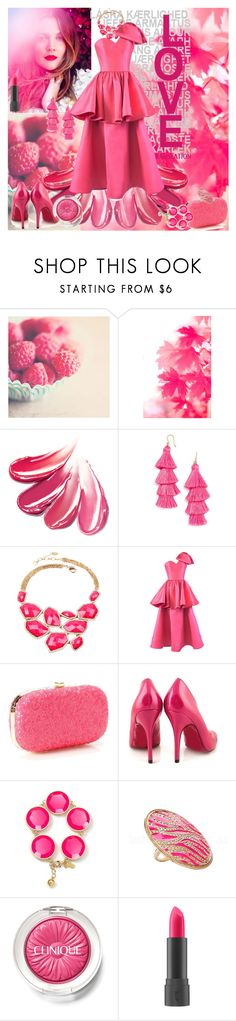 """""""Prime Pink"""" by caramelpz ❤ liked on Polyvore featuring Amrita Singh, Mark Bumgarner, Faith, Kate Spade, Clinique and Bite"""