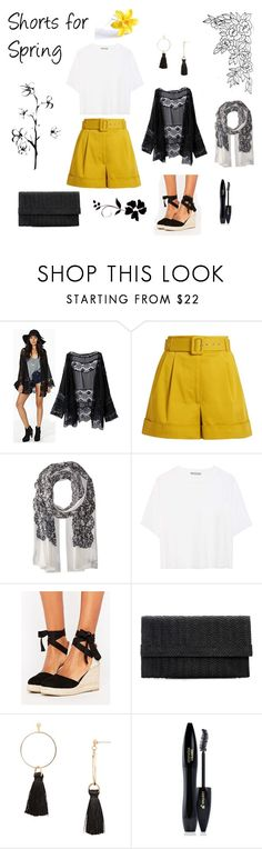 """""""Shorts for Spring"""" by ellie-tolia ❤ liked on Polyvore featuring Isa Arfen, MICHAEL Michael Kors, Vince, Pimkie, Aqua and Lancôme"""
