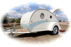 1940 style Teardrop caravan from The English Caravan Co. as seen on Retro to Go