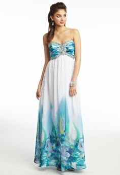 Chiffon Place Print Prom Dress from Camille La Vie and Group USA