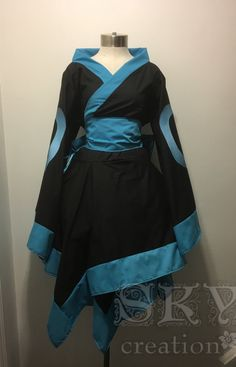 Umbreon Kimono Dress Umbreon Kimono Dress -Wide Collar -Asymmetric Hem with Flat Trim -Flared Sleeves with Flat Trim -Traditional Obi -Graphics on Sleeves This is a custom order item. Please see the Shipping & Policies for the current processing time. Cosplay Dress, Cosplay Outfits, Anime Outfits, Cosplay Costumes, Date Outfits, Dress Outfits, Cool Outfits, Fashion Outfits, Furisode Kimono