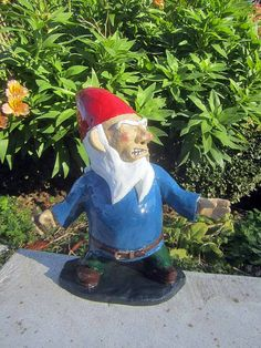 Garden Gnomes With Guns combat garden gnome officer with pistol | gardens, pistols and awesome